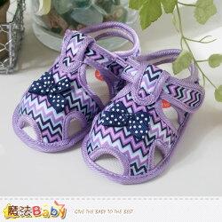 女童鞋~繽紛線條外出鞋/學步鞋~魔法Baby~sh3829