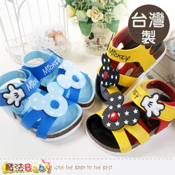 台灣製專櫃款迪士尼米奇兒童涼鞋(藍.黃) 魔法Baby~sh5540