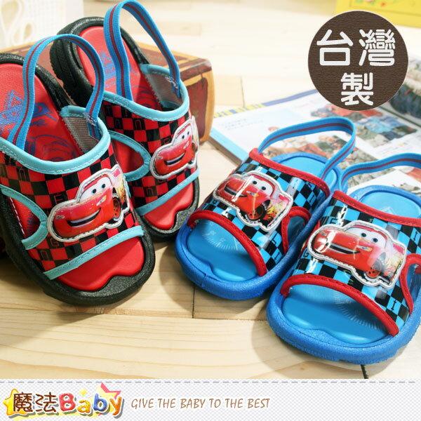 男童鞋 台灣製專櫃款迪士尼閃電麥坤涼鞋(藍.紅) 魔法Baby~sh5632