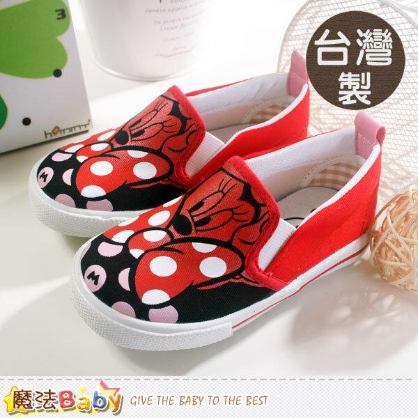 童鞋 台灣製專櫃款迪士尼米妮帆布鞋 魔法Baby~sh5656