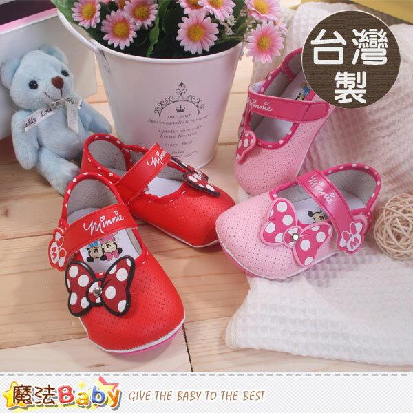 台灣製專櫃款米妮正版寶寶鞋(紅.粉) 魔法Baby~sh6814