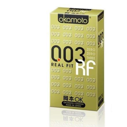 日本岡本okamoto 003 RF  極薄貼身保險套10入 【樂寶家】