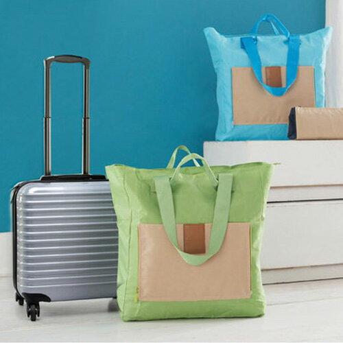 旅行袋 撞色可折疊包多功能單肩收納袋【MJS003-1】 BOBI  12/01 0