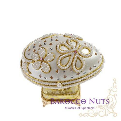 ~Barocco Nuts~ 音樂盒Music Box 蛋雕系列:花開式~滿天星與花朵珍珠