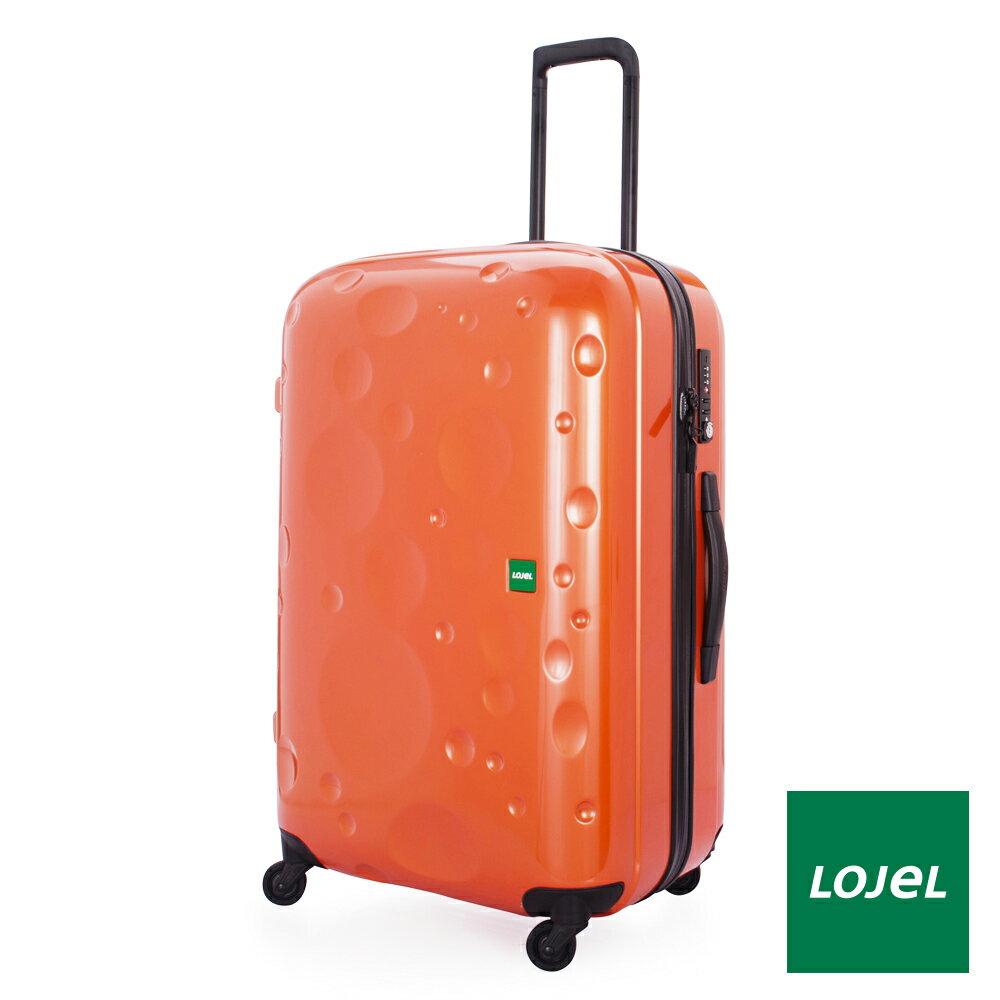 【日本 LOJEL】LUNA輕量 30吋 PC 澄色 拉鍊拉桿(360度靜音輪 行李箱 / 旅行箱)