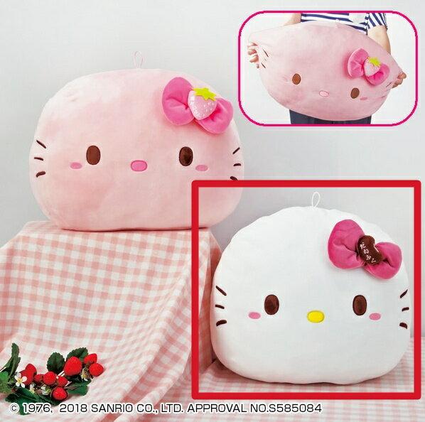 【真愛日本】18050400002日本景品大福抱枕-KT白kitty凱蒂貓娃娃抱枕靠枕枕頭日本景品