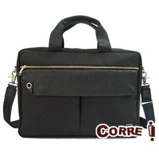 CORRE【PR012】經典手提斜背兩用包★ 黑色/深藍色/橄欖綠/咖啡色 共四色