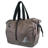 agnès b.到【LA STORES】agnes b. 卡其色摺疊拉鍊托特包/旅行袋