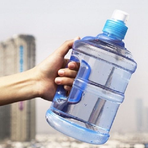 PS Mall 運動帶手柄便攜把手迷你水桶隨手杯水瓶 水壺 水杯 【J489】