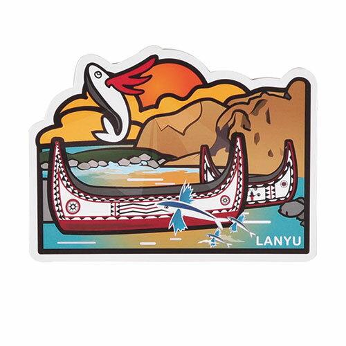 【MILU DESIGN】+PostCard>>台灣旅行明信片-蘭嶼/明信片(台灣原住民/達悟族/飛魚/拼板舟/TAIWAN)