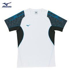 V2TA7G1901(白X黑灰)男女通款 吸汗快乾、Slim FIT合身版型 彈性排球上衣(【美津濃MIZUNO】