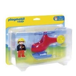 (卡司 正版現貨) Playmobil Special Plus 摩比人 123 小直升機 PM06789 摩比積木