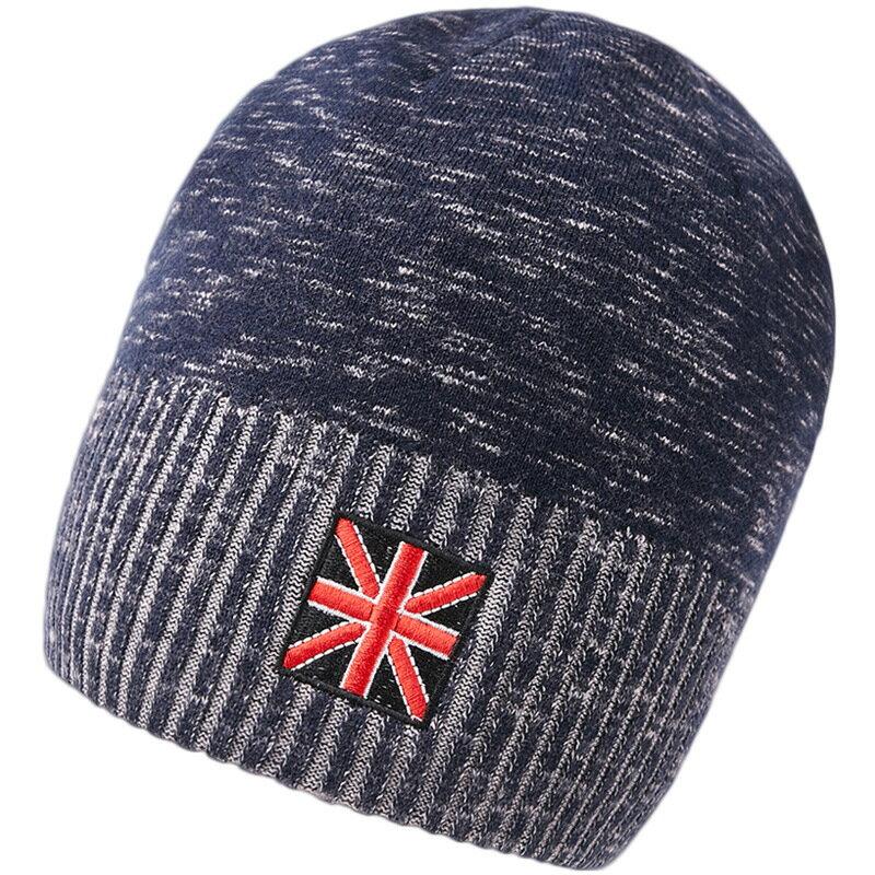 毛帽羊毛針織帽-簡約提花捲邊保暖男帽子2色73wj31【獨家進口】【米蘭精品】 0