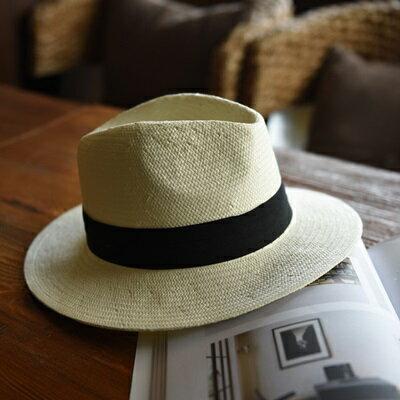 草帽手工編織爵士帽-時尚個性有型百搭女遮陽帽2色73si63【獨家進口】【米蘭精品】