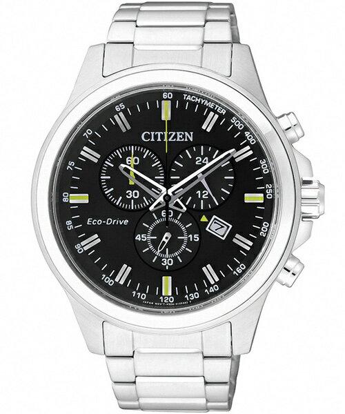 CITIZEN星辰AT2310-57E未來空間感光動能計時腕錶/黑面43mm