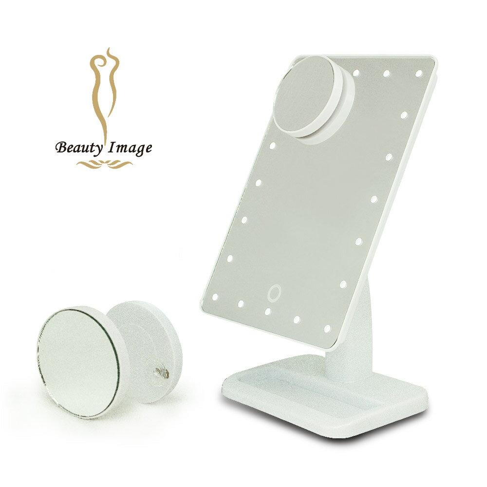【美致生活館】水美人--i-Mira LED子母補光化粧鏡 MJ-T638