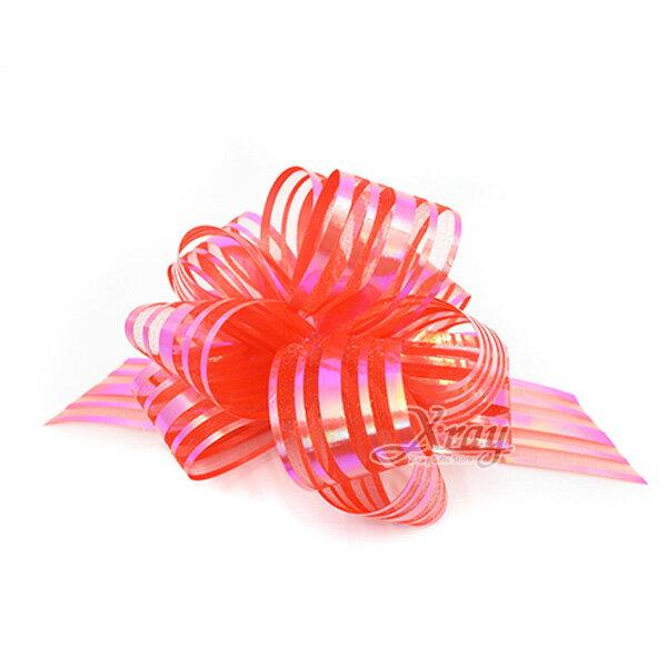 X射線【Y990003】手拉花緞帶-小(紅),織帶緞帶花DIY手工藝包裝材料花藝材料婚禮佈置會場佈置