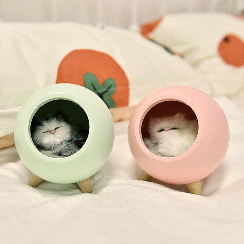 小萌寵小屋氛圍小夜燈led家用臥室床頭伴睡燈usb充電創意可愛寵物貓咪 5
