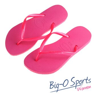 Havaianas 哈瓦仕 细带 珠光 巴西拖 沙滩拖鞋 女 HF5F0030P4 Big-O SPORTS