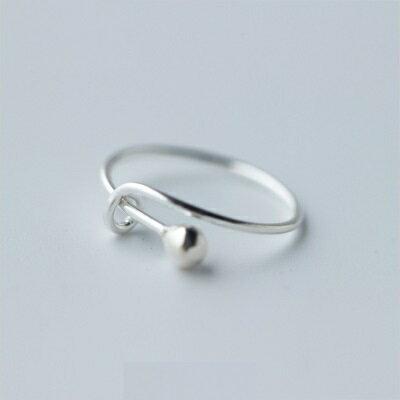 925純銀戒指開口戒~甜美氣質鎖扣 七夕情人節 女飾品73dt42~ ~~米蘭 ~