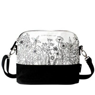 斜背包帆布肩背包-清新花卉插畫時尚女包包73st23【獨家進口】【米蘭精品】