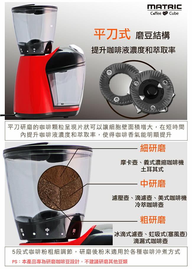 贈清潔刷【松木家電MATRIC磨盤式高效研磨磨豆機】美式咖啡機 蒸餾咖啡機 義式咖啡機 全自動咖啡機 咖啡壺 研磨咖啡機 奶泡機【AB329】 3