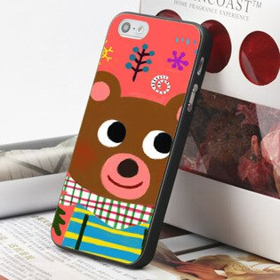 [機殼喵喵] Apple iPhone 4S 4G 4 i4 iP4 手機殼 外殼 客製化 水印工藝 WZ296 布偶熊