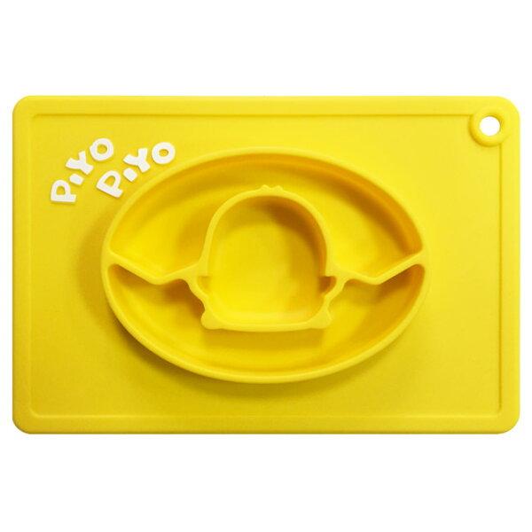 【奇買親子購物網】黃色小鴨PiYOPiYO防滑矽膠餐盤