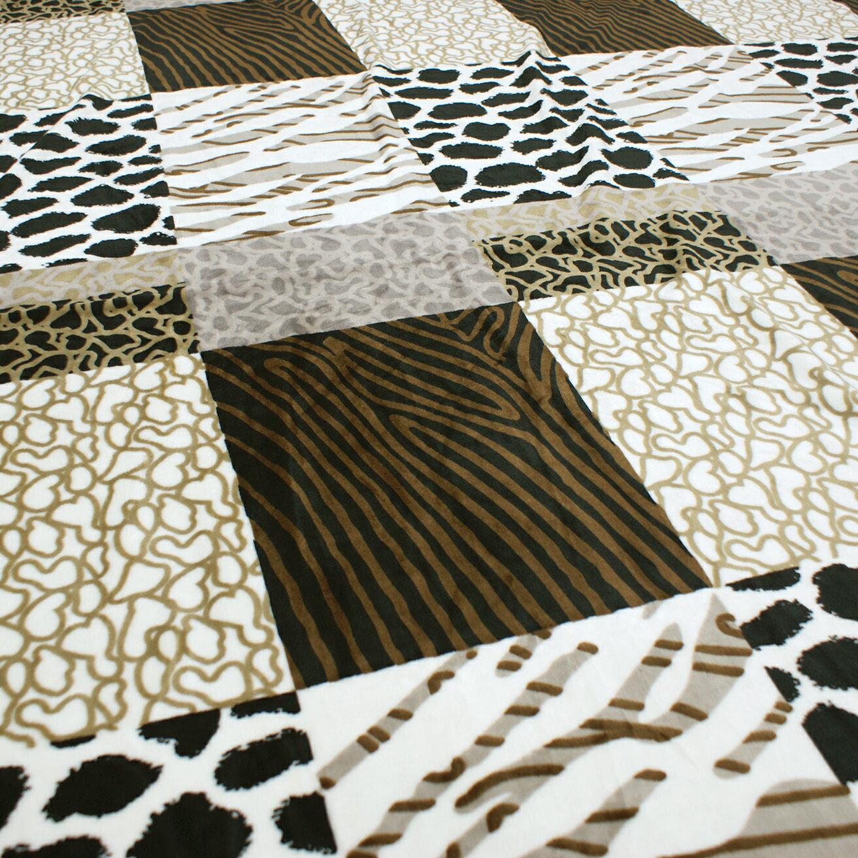 Royal Duck 翡翠絨加大毯 非洲風情 HU8002 3