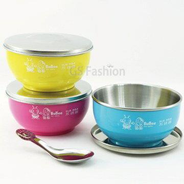珍昕生活網:【珍昕】香醇不鏽鋼雙層隔熱兒童碗(附湯匙不繡鋼蓋子)~3種顏色隔熱碗