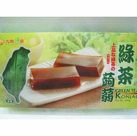 《小瓢蟲生機坊》大熊健康 - 綠茶蒟蒻 400公克(8入/盒) 蒟蒻條 零食