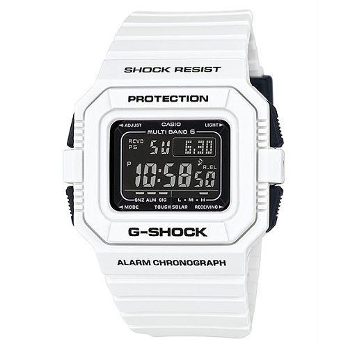 CASIO G-SHOCK GW-5510BW-7DF黑白鍵電波流行數位腕錶/46.2mm