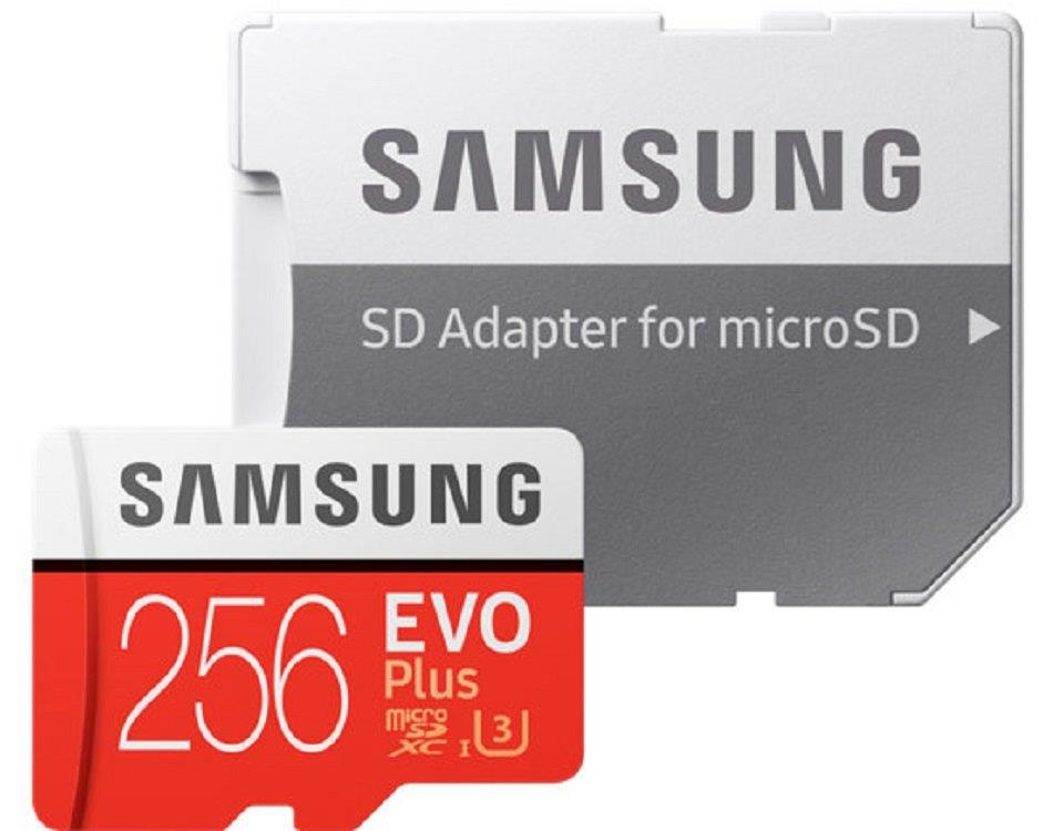 Samsung EVO Plus 100MB/s 256GB microSDXC Class 10 256G microSD micro SD SDXC UHS-I U3 C10 MB-MC256GA with Original SD Adapter and OEM USB 3.0 Card Reader 2