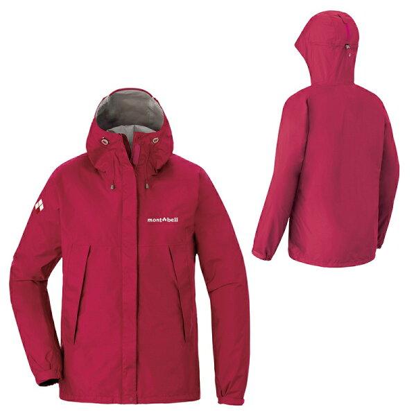 【【蘋果戶外】】mont-bell1128601紅日本女防水透氣外套類Gore-tex防水外套雨衣風衣風雨衣