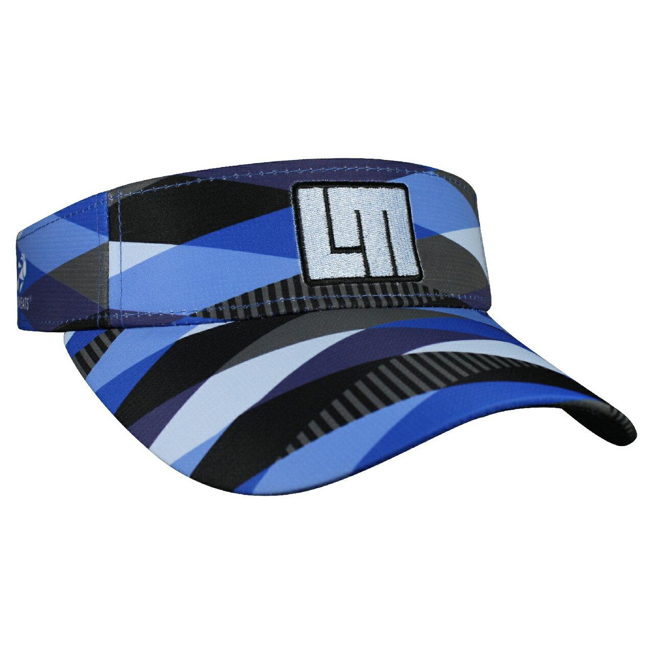 LOUDMOUTH 英國高爾夫服飾品牌-藍色明暗中空帽