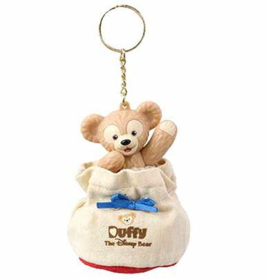X射線【C180001】日本東京迪士尼代購-達菲小禮物袋鑰匙圈,包包掛飾/鑰匙圈/雪莉玫/達菲/畫家