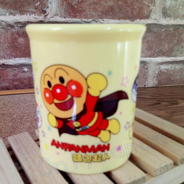 【真愛日本】18062800002PP300cc圓筒水杯-ANP黃麵包超人細菌人杯子塑膠水杯塑膠杯漱口杯
