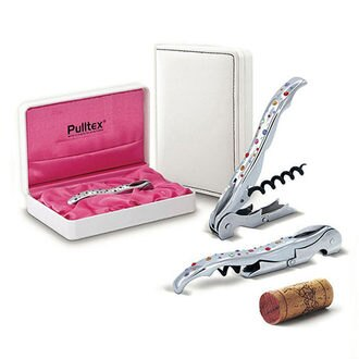 西班牙【Pulltex】施華洛世奇彩虹水晶開瓶器(皮革禮盒組)