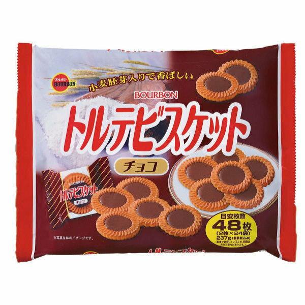 日本BOURBON巧克力餅感家庭包237g【24546】