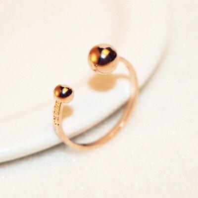 玫瑰金戒指銀飾-獨特精美奢華大方母親節生日情人節禮物女飾品73by49【獨家進口】【米蘭精品】