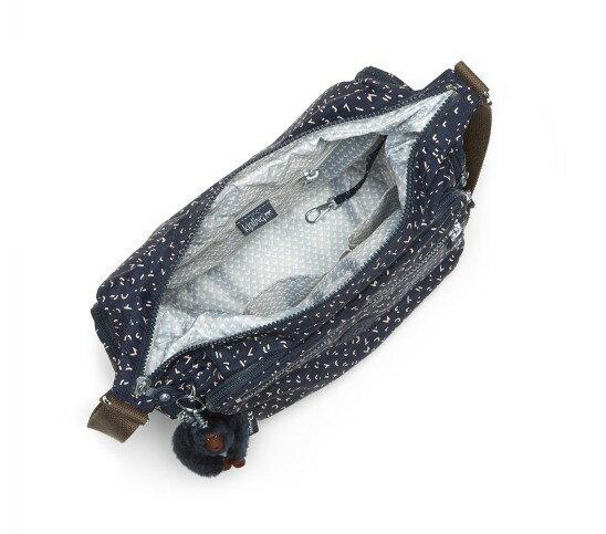 OUTLET代購【KIPLING】多層側背包 旅行袋 斜揹包 潑墨藍 1