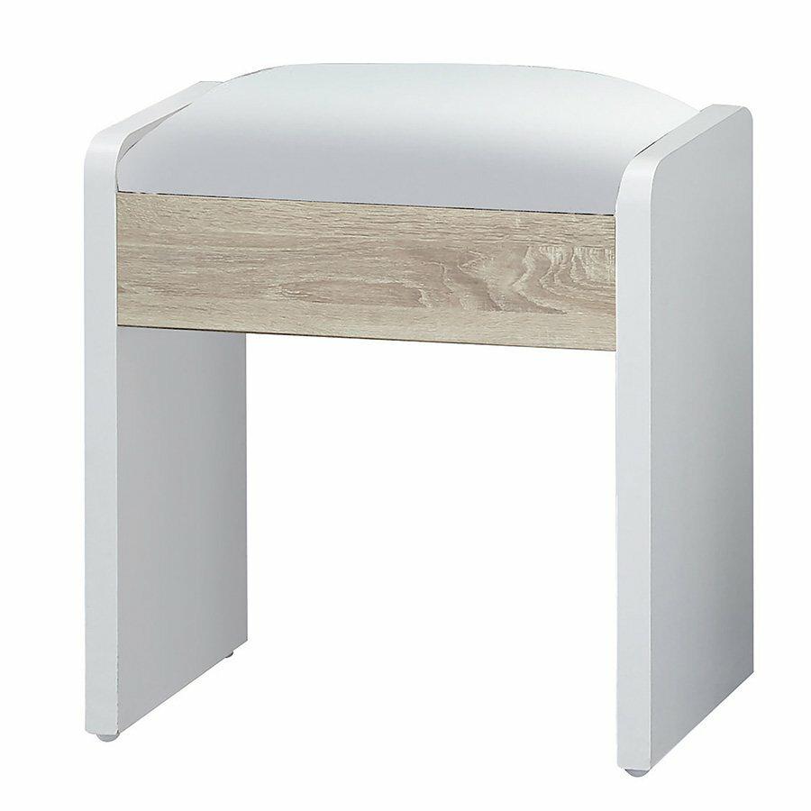 【石川家居】LU-473-4 艾美爾加州橡木化妝椅(單張)