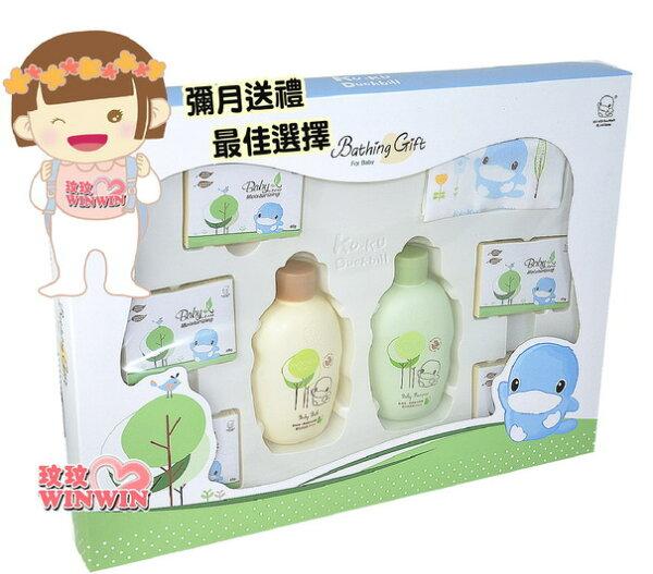 玟玟 (WINWIN) 婦嬰用品百貨名店:KU.KU酷咕鴨1115酪梨燕麥沐浴禮盒~附贈禮用提袋,專用提袋、送禮大方,自用兩相宜