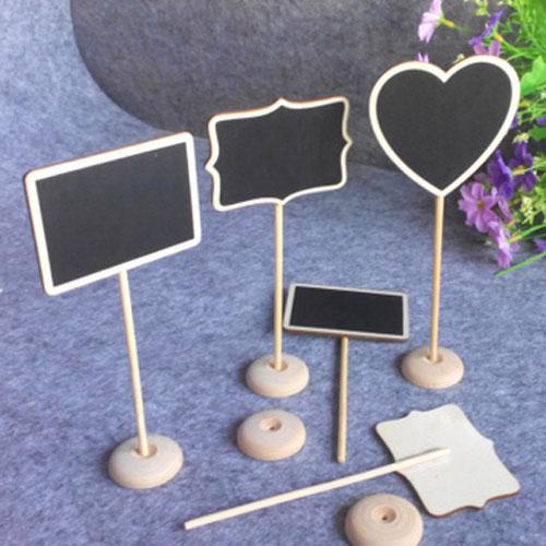 創意可站立迷你木質小黑板Diy留言板備忘板展示牌