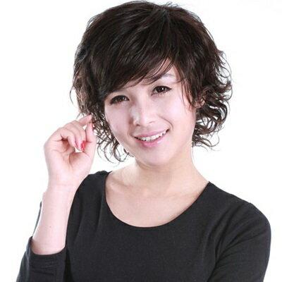 ~假髮整頂假髮短假髮~ 手織成熟中老年女 73em10~ ~~米蘭 ~