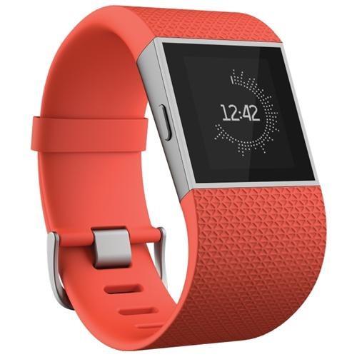 Fitbit Surge GPS Watch - Wrist - Optical Heart Rate Sensor, Accelerometer, Gyro Sensor, Digital Compass, Altimeter, Ambient Light Sensor - Music Player, Alarm, Text Messaging - Calories Burned, Steps Taken, Distance Traveled - Touchscreen - Bluetooth - Bl