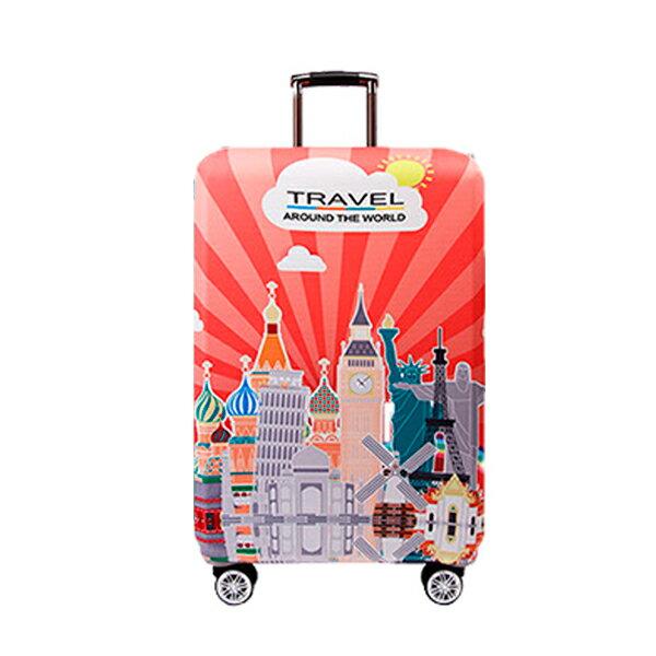 ★超時尚 彈性行李箱套★ 新款加厚 尺寸任選 旅行必備 行李保護防塵套 『無名』 M07123 1