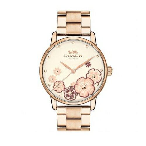 COACH經典茶香玫瑰優雅女仕腕錶14503007
