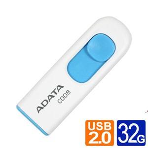 威剛 ADATA C008 32GB 行動碟 藍白/黑紅兩款