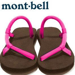 Mont-Bell 日系圓織帶休閒拖鞋/戶外涼鞋 Sock-on sandals 1129396 BN/PK 棕/粉紅